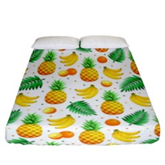 Tropical Fruits Pattern Fitted Sheet (california King Size)