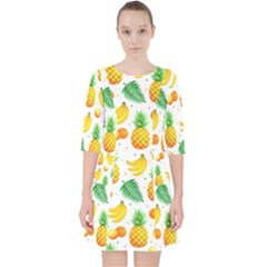 Tropical Fruits Pattern Pocket Dress by Vaneshart