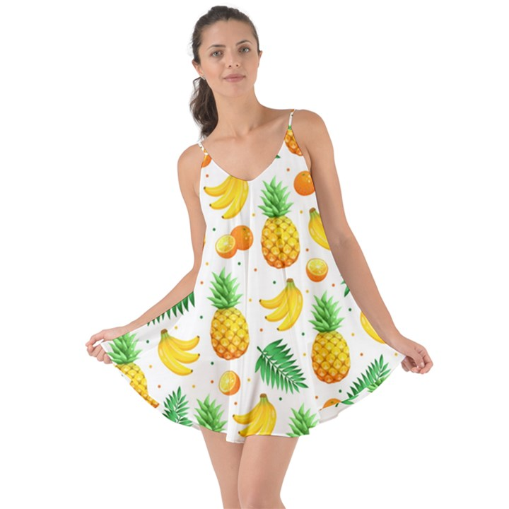 Tropical Fruits Pattern Love the Sun Cover Up