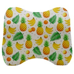 Tropical Fruits Pattern Velour Head Support Cushion