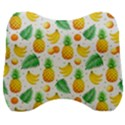 Tropical Fruits Pattern Velour Head Support Cushion View1