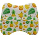 Tropical Fruits Pattern Velour Head Support Cushion View2