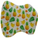 Tropical Fruits Pattern Velour Head Support Cushion View3