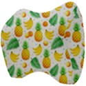 Tropical Fruits Pattern Velour Head Support Cushion View4