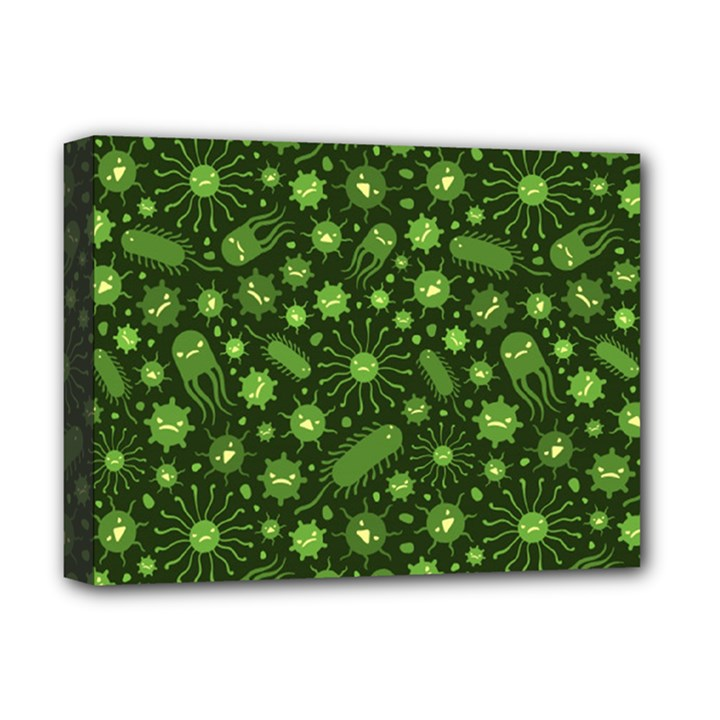 Seamless Pattern With Viruses Deluxe Canvas 16  x 12  (Stretched)
