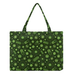 Seamless Pattern With Viruses Medium Tote Bag