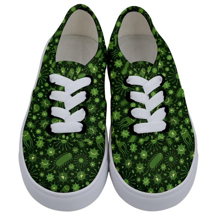 Seamless Pattern With Viruses Kids  Classic Low Top Sneakers