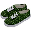 Seamless Pattern With Viruses Kids  Classic Low Top Sneakers View2