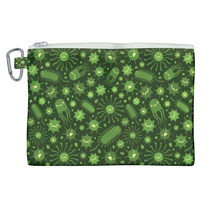 Seamless Pattern With Viruses Canvas Cosmetic Bag (XL)