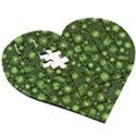 Seamless Pattern With Viruses Wooden Puzzle Heart View3