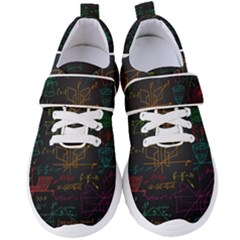 Mathematical Colorful Formulas Drawn By Hand Black Chalkboard Women s Velcro Strap Shoes by Vaneshart