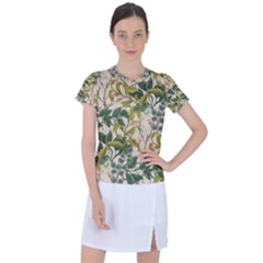 Flower Leaves Background Women s Sports Top