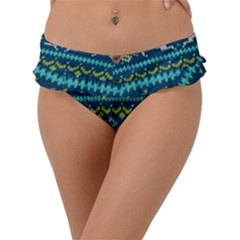 Background With Fabric Texture Winter Frill Bikini Bottom