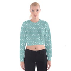 Group Of Birds Flying Graphic Pattern Cropped Sweatshirt
