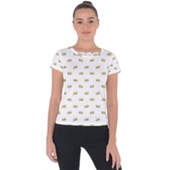 Ant Sketchy Comic Style Motif Pattern Short Sleeve Sports Top