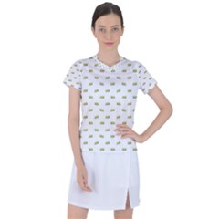 Ant Sketchy Comic Style Motif Pattern Women s Sports Top