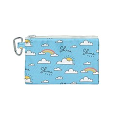 Sky Pattern Canvas Cosmetic Bag (small) by Vaneshart