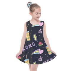 Cute Girl Things Seamless Background Kids  Summer Dress