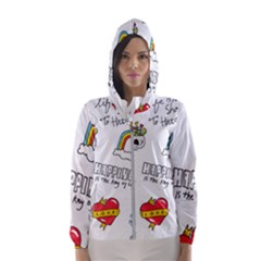Abstract Fashion Background Suitable Fabric Printing Women s Hooded Windbreaker