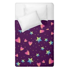 Colorful Stars Hearts Seamless Vector Pattern Duvet Cover Double Side (single Size)