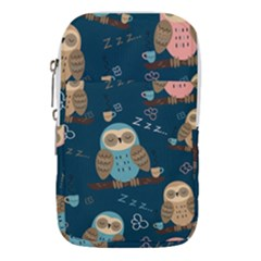 Seamless Pattern Owls Dreaming Waist Pouch (large)