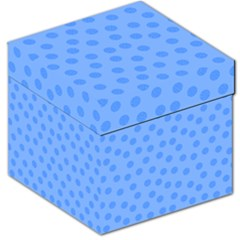 Dots With Points Light Blue Storage Stool 12