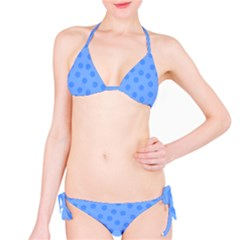 Dots With Points Light Blue Classic Bikini Set by AinigArt