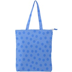 Dots With Points Light Blue Double Zip Up Tote Bag by AinigArt