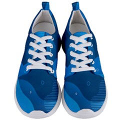 Abstract Classic Blue Background Men s Lightweight Sports Shoes