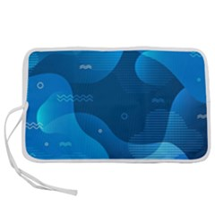 Abstract Classic Blue Background Pen Storage Case (m)