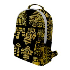 American Golden Ancient Totems Flap Pocket Backpack (large)