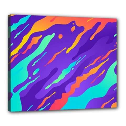 Multicolored Abstract Background Canvas 24  X 20  (stretched)