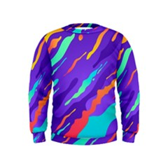 Multicolored Abstract Background Kids  Sweatshirt