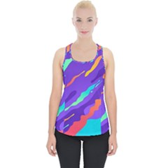 Multicolored Abstract Background Piece Up Tank Top