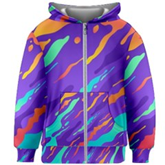 Multicolored Abstract Background Kids  Zipper Hoodie Without Drawstring by Vaneshart
