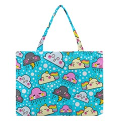 Cloud Seamless Pattern Medium Tote Bag