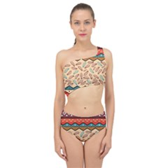 Ethnic Tribal Pattern Background Spliced Up Two Piece Swimsuit by Vaneshart