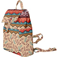 Ethnic Tribal Pattern Background Buckle Everyday Backpack by Vaneshart