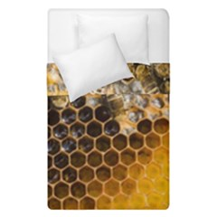 Honeycomb With Bees Duvet Cover Double Side (single Size)