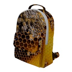 Honeycomb With Bees Flap Pocket Backpack (large)