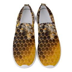 Honeycomb With Bees Women s Slip On Sneakers by Vaneshart