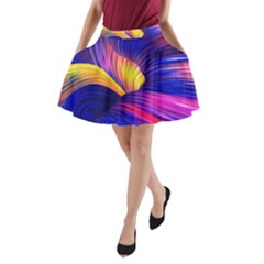 Abstract Antelope Pattern Background A-line Pocket Skirt