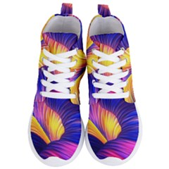 Abstract Antelope Pattern Background Women s Lightweight High Top Sneakers
