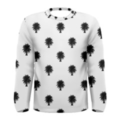 Black And White Tropical Print Pattern Men s Long Sleeve Tee by dflcprintsclothing