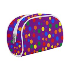 Gay Pride Rainbow Multicolor Dots Makeup Case (small)
