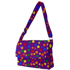 Gay Pride Rainbow Multicolor Dots Full Print Messenger Bag (l)
