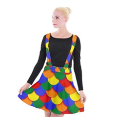 Gay Pride Scalloped Scale Pattern Suspender Skater Skirt by VernenInkPride