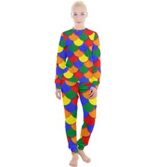Gay Pride Scalloped Scale Pattern Women s Lounge Set by VernenInkPride