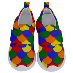 Gay Pride Scalloped Scale Pattern Kids  Velcro No Lace Shoes by VernenInkPride