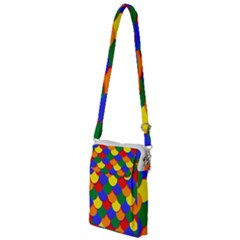 Gay Pride Scalloped Scale Pattern Multi Function Travel Bag by VernenInkPride